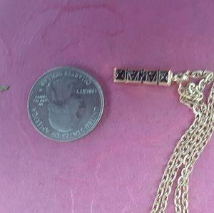 Xanax Bar Gold Plated Charm Necklace punk hip hop